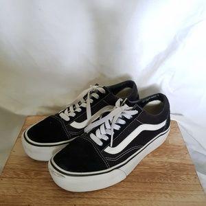 Vans Old Skool Low Platform Sneaker Black White 7